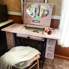 sewing machine table ideas repurposed sewing machine table to vanity sewing machine tables