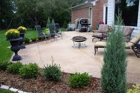 Backyard Concrete Patio Ideas by Awesome Concrete Patios Ideas U2013 Stamped Concrete Patios Cost Cost