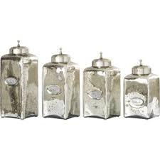 glass bathroom canisters wayfair
