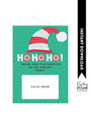 target gift card holder teacher thank you card christmas