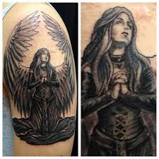 praying angel tattoo oldies by tokmakhan on deviantart