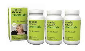 martha stewart essentials hair skin and nail supplement 3 pack