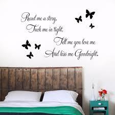 diy sentences kiss me goodnight butterfly wall art home decor