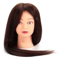 80 real human hair hairdressing training model mannequin head