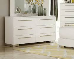 White Gloss Furniture Homelegance Linnea Dresser High Gloss White 1811w 5