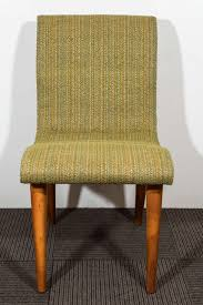 Mid Century Dining Chairs Upholstered Buy Set Of Four Midcentury Green Upholstered Dining Chairs By Russel