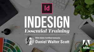 adobe indesign cc essentials training course daniel scott