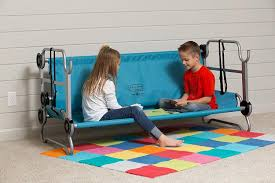 bed for kid kid o bunk portable bunk beds for cing also converts into a sofa
