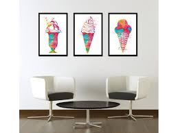 modern kitchen art paintings art ice cream watercolor print dessert painting ice cream poster