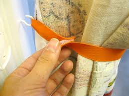 Curtains With Ribbon Ties Easy Ways To Use Ribbon To Tie Back Curtains For The Home