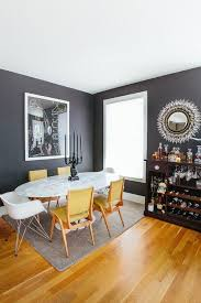 black gray and yellow living room decorating with gray and brown