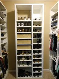 a closet simple and big size shoe racks for closets interior decorations