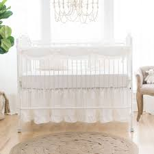 All White Crib Bedding White Linen Ruffled Crib Skirt White Crib Skirt Ruffled Crib