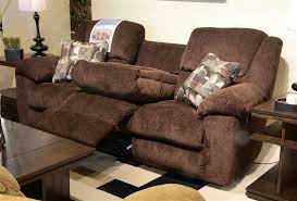 3 Recliner Sofa Transformer Ultimate Reclining Sofa In Chocolate Fabric By