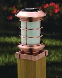 designer solar metal post cap lights