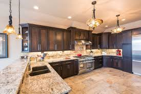 traditional kitchen with flat panel cabinets tile zillow