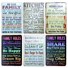 Metal Signs Home Decor Our Kitchen Rules Metal Tin Sign Hotel Cafe Bar Wall Decor Metal
