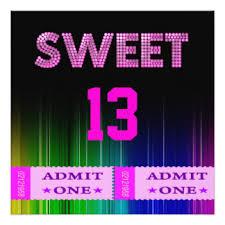 fun girls 13th birthday party invitations u0026 announcements zazzle