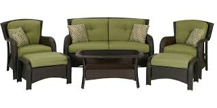 Patio Furniture Milwaukee Wi by Hanover Strathmere 6 Piece Patio Seating Osst 6pc Cu Gl
