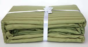 certified organic cotton stripe sateen sheet set fair trade