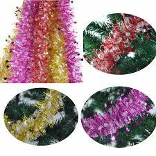 shiny garland ribbon tree decoration