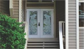 Etched Glass Exterior Doors Dolphins Etched Glass On Hurricane Impact Glass Entry Doors