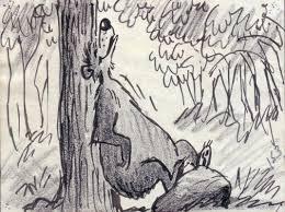 disney jungle book original storyboard drawing bill peet