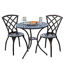 Aluminum Bistro Table And Chairs Best Selling Cast Aluminum Bistro Set 3 Garden