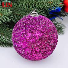 wholesale hanging christmas ornaments decorate 10cm purple bubble