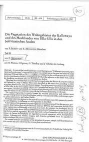 Ve ation des Wohngebietes der Kallawaya Hochlandes von UIla Ulla