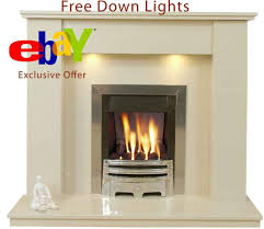 trent marble fireplace surround down lights u0026 fires ebay