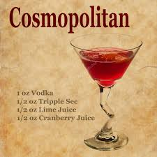 Cosmopolitan Recipe U2014 Stock Photo Borojoint 77518634