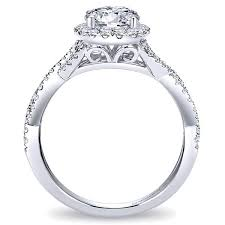engagement ring setting gabriel er7543 criss cross halo engagement ring freedman jewelers