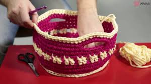 Make Your Own Gift Basket Make Your Own Gift Crochet Basket For Small Stuff Youtube