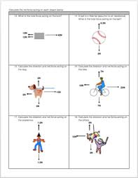 free body diagram u0026 net force practice worksheet tpt