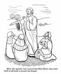 easter bible coloring pages apostles preach gospel