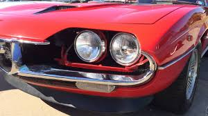 alfa romeo montreal parking at pasteiners alfa montreal headlights 06 14 2014