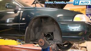 how to install replace front strut volvo c70 s70 v70 98 00 1aauto