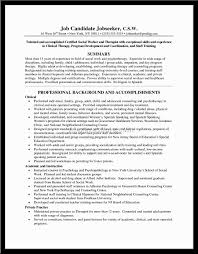 sample resume mental health social worker federal social worker