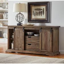 Solid Wood Buffet Table Distressed Solid Wood Server