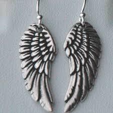 angel wing earrings sterling silver angel wings earrings ymcjewelry on artfire