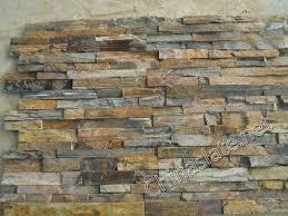 rough surface rusty slate cultured stone veneer rusty color