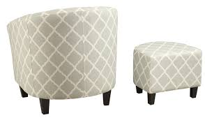 Upholstered Club Chairs brayden studio 2 piece upholstered barrel chair and ottoman set
