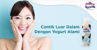 Yogurt Untuk Masker Wajah cantik luar dalam dengan yogurt alami cimory