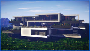 minecraft epic modern mansion 60fps youtube