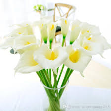 calla bouquet best quality white decorative flower artificial calla bridal