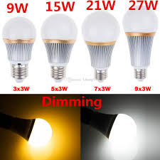 Led Lights Bulbs by Best Dimmable 9w 15w 21w 27w Led Lights Bulbs Lamp E27 E26 Cree