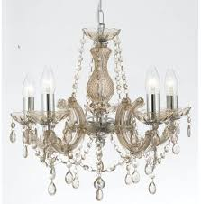 Chandelier Uk Therese Style Glass Chandelier In Chane Colour By