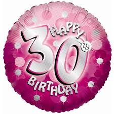 30th birthday balloons delivered pink sparkle party happy birthday 30th balloon delivered inflated