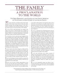 family proclamation lessons about the family proclamation latter day learning